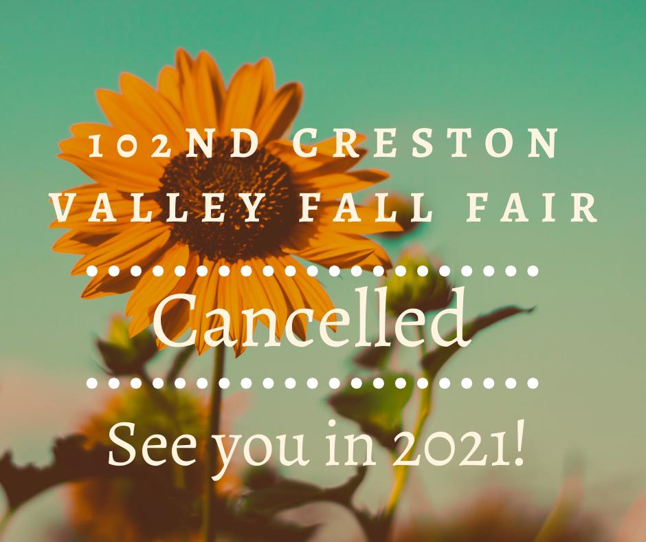 Fall Fair Cancelled